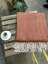 Load image into Gallery viewer, Recycled Wool Blanket. Herringbone