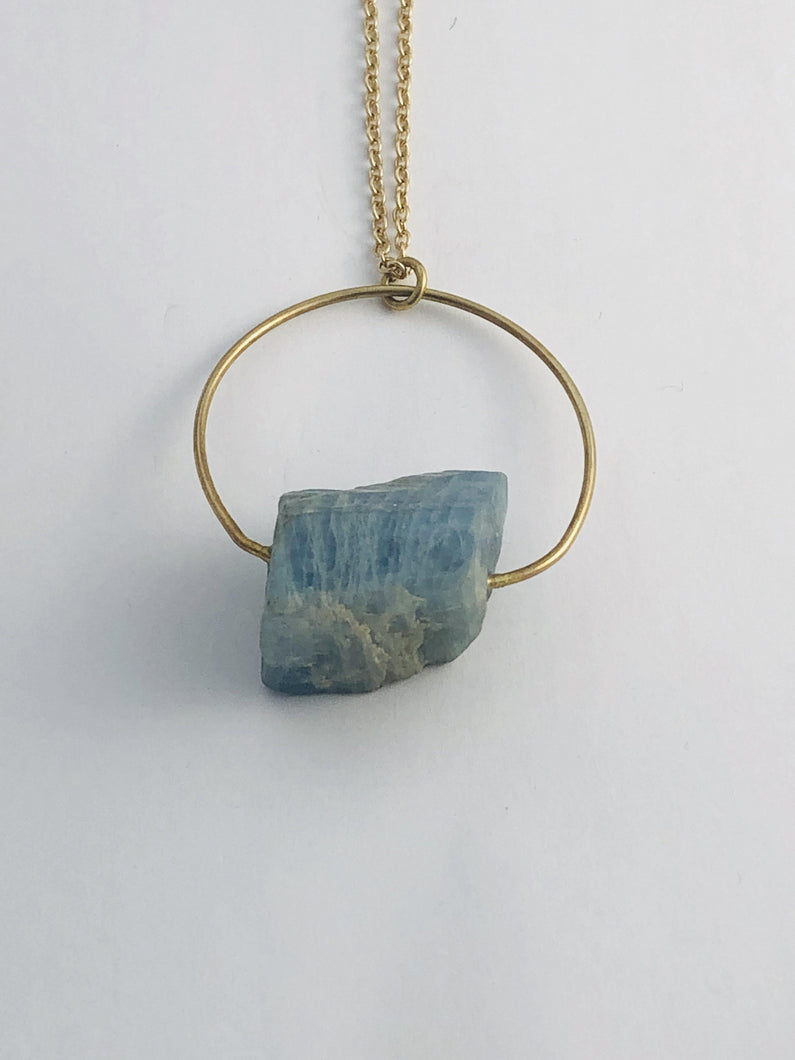 Aquamarine (Blue) Necklace - Full Moon Designs