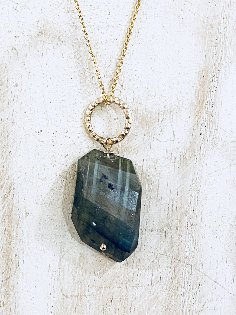 Labradorite Gold Filled Necklace - Full Moon Designs