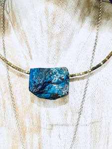 Chrysocolla Choker - Full Moon Designs