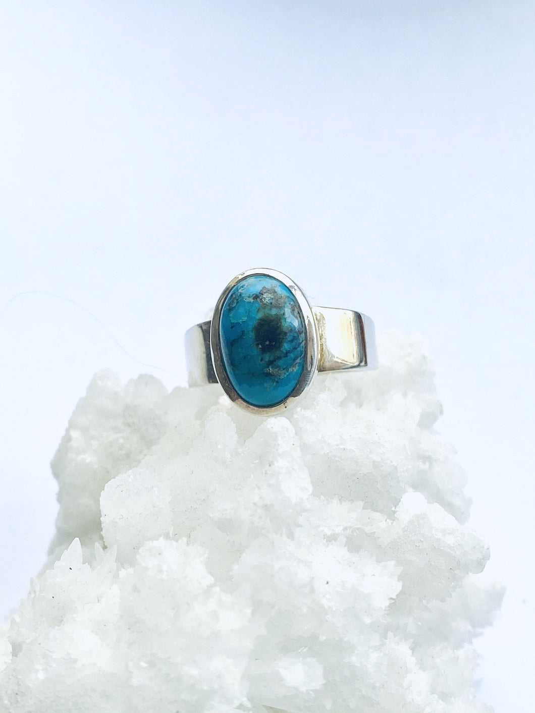 Chrysocolla Sterling Silver Ring - Full Moon Designs