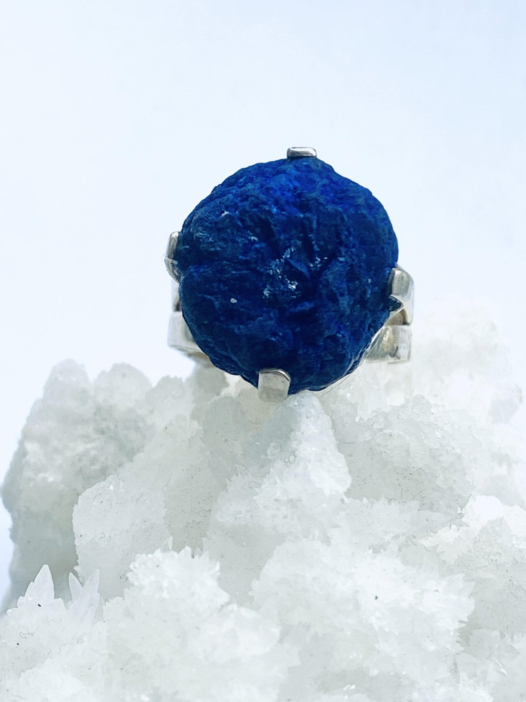 Azurite Sterling Silver Ring - Full Moon Designs