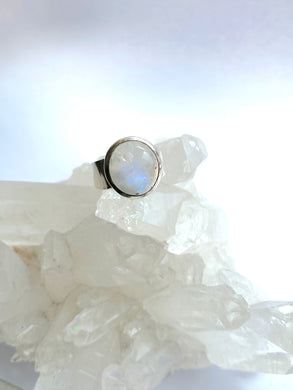 Moonstone Sterling Silver Ring - Full Moon Designs