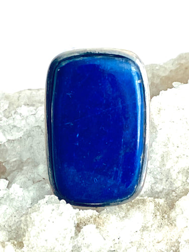 Lapis Lazuli Sterling Silver Ring - Full Moon Designs