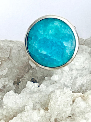 Amazonite Sterling Silver Ring - Full Moon Designs