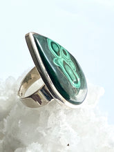 Load image into Gallery viewer, Malachite Sterling Silver Ring - Full Moon Designs