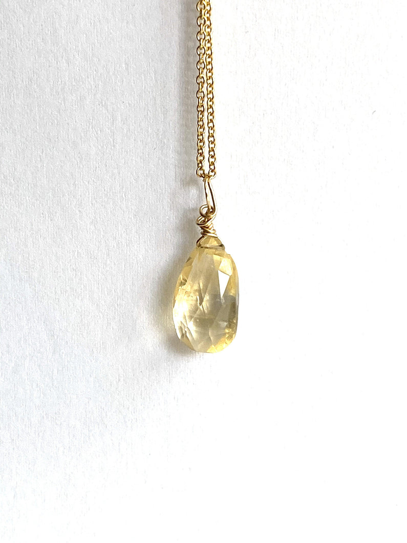 Citrine Gold Filled Necklace - Full Moon Designs