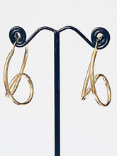 Load image into Gallery viewer, Earrings Hoops Gold on Silver - Full Moon Designs