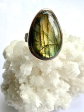 Load image into Gallery viewer, Labradorite Sterling Silver Ring - Full Moon Designs