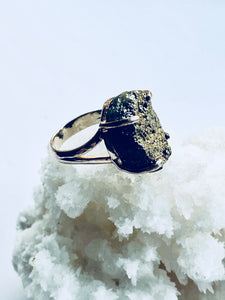Pyrite Sterling Silver Ring - Full Moon Designs