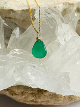 Load image into Gallery viewer, Onyx (Green) Gold Filled Necklace - Full Moon Designs