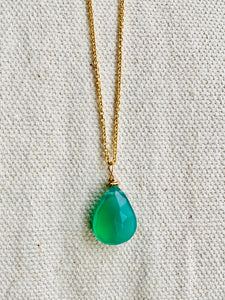 Onyx (Green) Gold Filled Necklace - Full Moon Designs