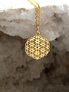 Flower of Life Pendant Necklace - Full Moon Designs