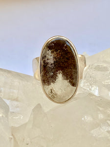 Quartz (Lens) Sterling Silver Ring - Full Moon Designs