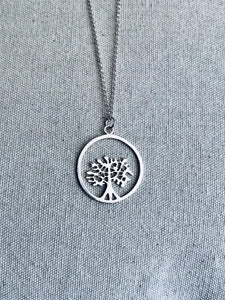 Silver Necklace. Tree of Life
