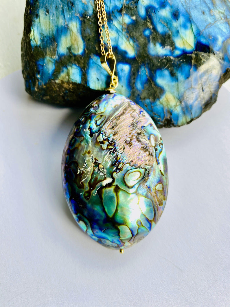 Abalone Shell Necklace - Full Moon Designs