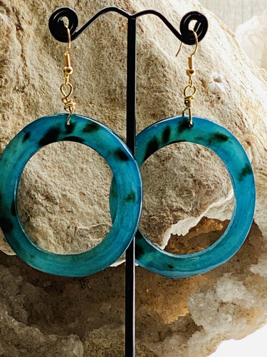 eco recycled horn earrings