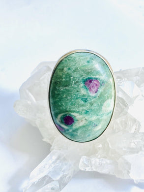 Zoisite Sterling Silver Ring
