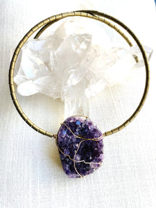gemstone jewellery amethyst choker necklace