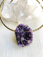 Load image into Gallery viewer, amethyst purple choker