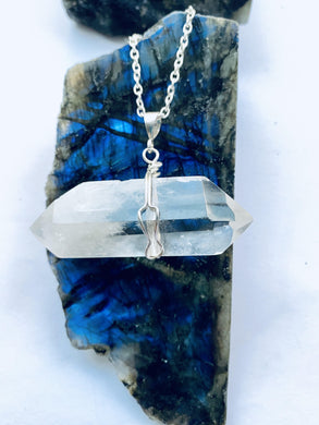 Quartz (clear) Sterling Silver Pendant - Full Moon Designs