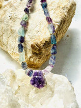 Load image into Gallery viewer, Amethyst and Fluorite Necklace - Full Moon Designs