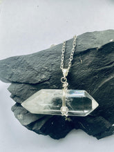 Load image into Gallery viewer, Quartz (clear) Sterling Silver Pendant - Full Moon Designs
