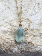 Load image into Gallery viewer, Blue Fluorite Goldfilled  Necklace - Full Moon Designs