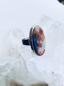 Brown Agate Sterling Silver Ring