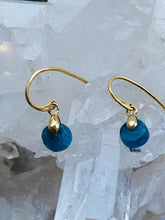 Load image into Gallery viewer, Apatite Gold on Silver  Earrings - Full Moon Designs