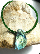 Load image into Gallery viewer, Labradorite and Jade (Nephrite) Necklace - Full Moon Designs