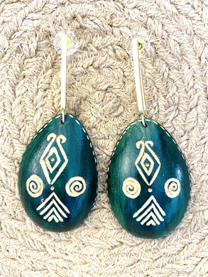 Kalibash Green Gold Earrings - Full Moon Designs