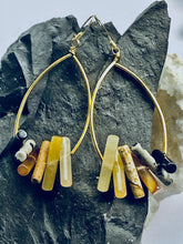 Load image into Gallery viewer, Jasper Multi colour Gold Earrings - Full Moon Designs