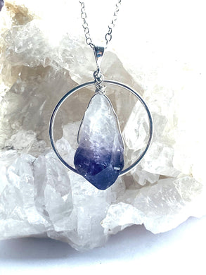 Amethyst Sterling Silver Pendant - Full Moon Designs