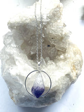 Load image into Gallery viewer, Amethyst Sterling Silver Pendant - Full Moon Designs