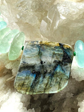 Load image into Gallery viewer, Labradoirite and Fluorite Necklace - Full Moon Designs