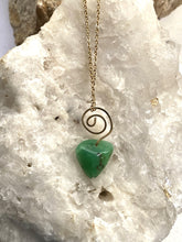 Load image into Gallery viewer, Chrysoprase Goldfilled Necklace