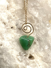 Load image into Gallery viewer, Chrysoprase Goldfilled Spiral Pendant Necklace