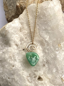 Chrysoprase Goldfilled Necklace