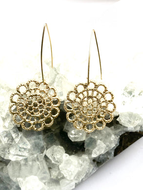 Flower Earrings with Gold Filled hooks