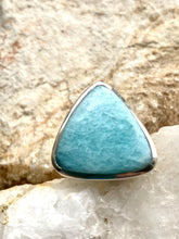Load image into Gallery viewer, Amazonite Sterling Silver Ring - Full Moon Designs