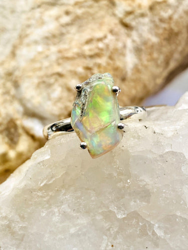 Opal (Ethiopan) Sterling Silver Ring - Full Moon Designs
