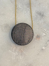 Load image into Gallery viewer, Pyrite with Shungite Gold filled Necklace - Full Moon Designs