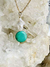Load image into Gallery viewer, turquoise mother of pearl necklace