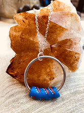 Load image into Gallery viewer, glass necklace Ghanian by full moon designs