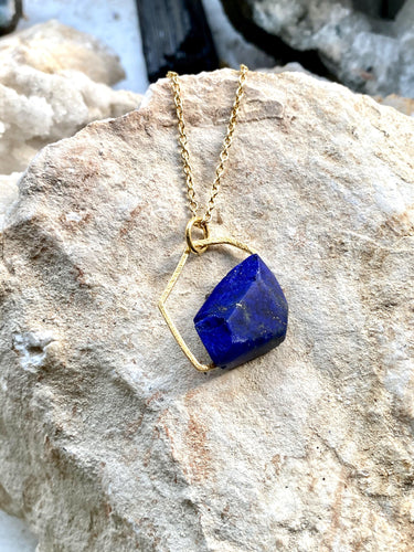 blue stone lapis lazuli necklace. Hand made by Full Moon Designs