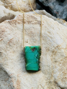 Chrysoprase Goldfilled Necklace - Full Moon Designs
