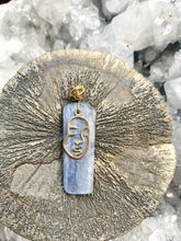 Load image into Gallery viewer, Kyanite (Blue ) Gold and Brass Necklace