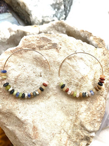 Multicolour Goldfilled Hoops