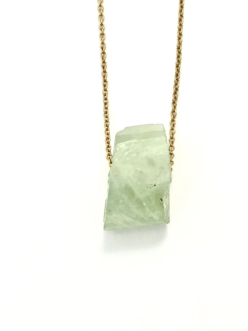 Aquamarine (Green) Goldfilled Necklace - Full Moon Designs
